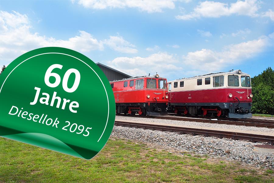 """Bahnhofsfest Gmünd """"60 Jahre Diesellok 2095"""" am 25. Mai 2019"""