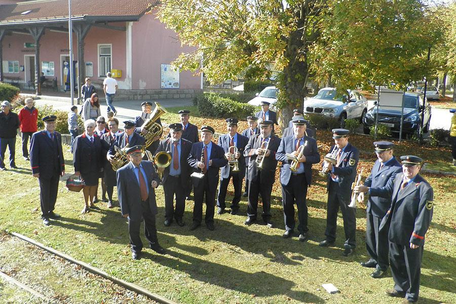 Ausfahrt mit der Eisenbahnerkapelle