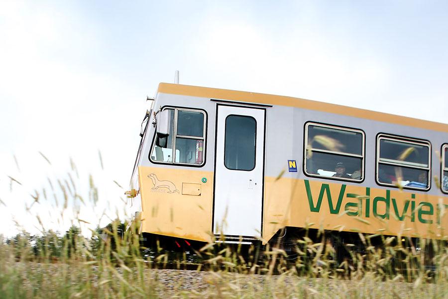 Goldener Dieseltriebwagen